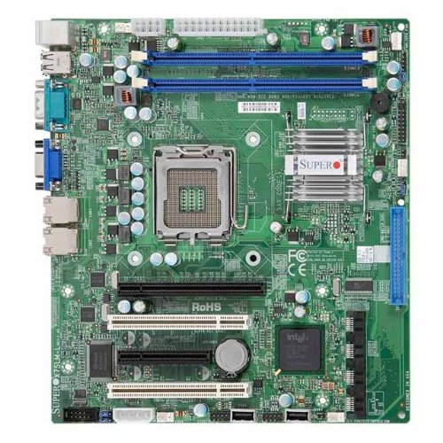 Supermicro MBD-X7SLM-L-LGA 775 (Socket T) Micro ATX Server/Workstation Mainboard - Server/Workstation Mainboard (MicroATX, LGA 775 (Socket T), 400,533,667 MHz, 1 GB, 256MB, 512MB, Dual, 24 GB) -