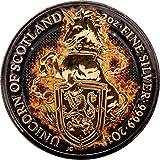 Power Coin Burning Unicorn Einhorn Queen Beasts 2 Oz Silber Münze 5£ United Kingdom 2018