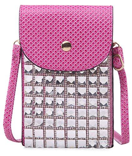 Big Handbag Shop - Borsa a tracolla bambina (Rosa)