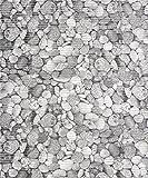 Badvorleger Aquamat Antirutsch Matte Bodenbelag, Bad Garten Küche, Kieselsteine, Größe wählbar (100 x 65 cm)