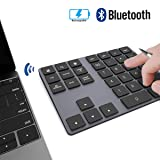 Pavé Numérique sans Fil JOYEKY Pavé Numérique Bluetooth Ultra-Mince avec 34 Touches pour Ordinateur PC Notbook - Noir