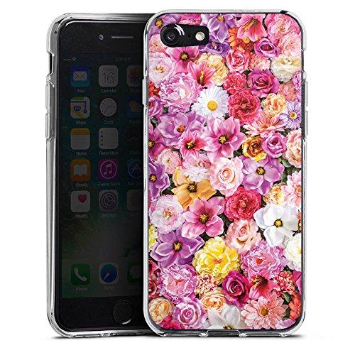 Apple iPhone X Silikon Hülle Case Schutzhülle Blütenmeer Blüten Blumen Silikon Case transparent