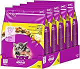 Whiskas Katzenfutter Trockenfutter Junior Kitten <1 mit Huhn, 5 Beutel (5 x 0,8 kg)