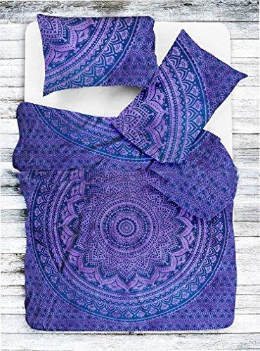 Sophia arte indio exclusivo Ombre Mandala Reina tamaño Colcha hippie Boho algodón doona funda de edredón indio colcha Mandala Hippie bohemio Reina juego de funda de edredón con Pilow