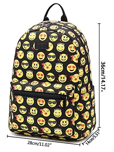 Imagen de tibes linda   para niñas  lona estudiantes emoji bolsos  c negro alternativa