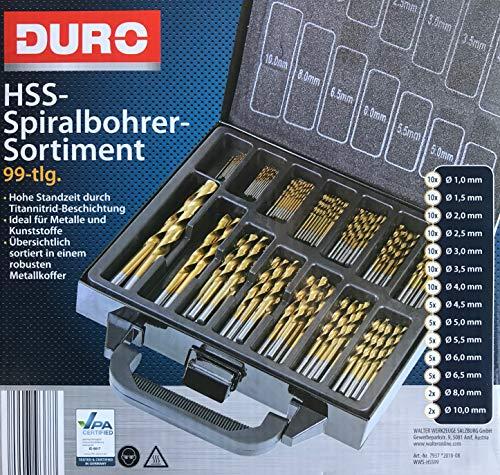 HSS-Spiralbohrer-Sortiment 99-teilig
