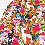 Tropical Parrot Fabric - By the Metre