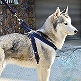 fakeface verhindert Zerren Verstellbare gepolsterte Hundegeschirr Weste Heavy Duty Denim Pet Leine-Set für große/medium/kleine Hunde/Katzen