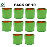 "Terrace Gardening HDPE Grow Bags for Vegetable Plants (12""x15"" Inches) - [30cms(L) X 38cms(H)] - Pack of 10"