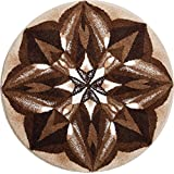 Grund m2675-042001203 Aussagekraft - Mandala Runde Durchmesser 60 cm, Badteppich, Kunstfaser, Braun, 60 x 10 x 1, 8 cm