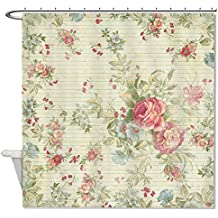 "warrantyll Vintage colorido flores baño cortina de ducha impermeable de poliéster 72""x 72"""