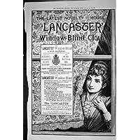 Panno 1887 dei Ciechi di Finestra di Lancaster della Stampa dell'Oggetto D'antiquariato della Pubblicità