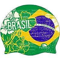 Turbo Brasil Vintage - Gorro de natación, color verde, talla FR: Taille unique