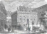 Leipzig - Die Börse auf dem Naschmarkt in Leipzig. Schöne äußere Ansicht. [Grafik]