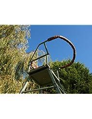 Rotación de 360grados de pie alto de caza camuflaje Asiento. Asiento acolchado y respaldo