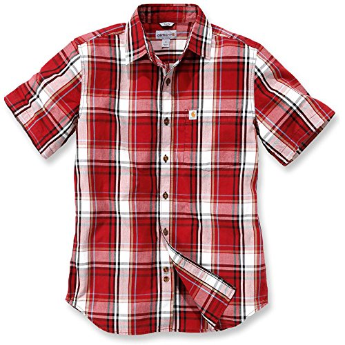 Carhartt NEW Slim Fit Plaid Short Sleeve Shirt