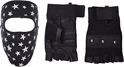 H-Store Balaclavas Mask Unisex Balaclava (Multi-Coloured) Filter Anti Pollution Dust Sun Protecion Face Cover Mask With Black Gym Workout Body Geometry Road Cycling Race Bodybuilding Leather Unisex Adults Gloves