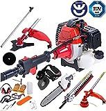 2018 – bu-ko largo alcance 52 Cc Gasolina Multi funcional herramienta de jardín incluye: cortacésped, cortasetos, tijeras de podar cortador de cepillo, motosierra y pértiga de ampliación