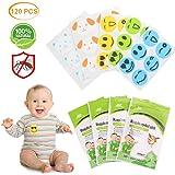 VZATT Patches Anti-Moustiques, 120 pièce Naturel Autocollants Anti-Moustiques Sûr et Non Toxique Patch Anti-Insectes pour Enfants Adultes Usage Intérieur et Extérieur
