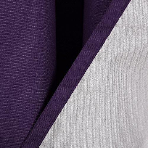 Deconovo Thermogardinen mit Ösen Oxford Vorhang für Schlafzimmer 240×140 cm Dunkellila - 4