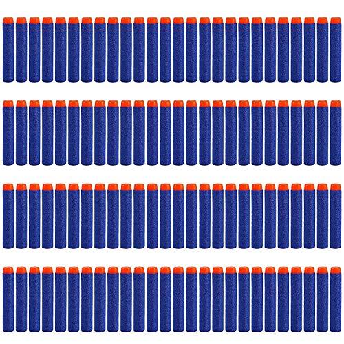 Nerf Darts ,StillCool 7.2cm 100 Stück Blue Foam Pfeile Patronen für Nerf N-Strike Elite Series Spielzeug Stampede Zubehör(Ohne Bandolier )(100, Dunkelblau)