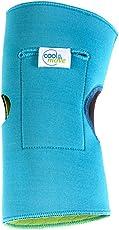 cool&move Knie Bandage XL, inkl. Kalt- / Warm-Kompressen, bei Sportverletzung und Gelenkschmerz