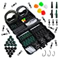 Dr.fish Set of 250 Carp Fishing Tackle in Box Rigs Safety Clips Hooks Swivel Snap Corn Tubing Accessories from Dr.Fish