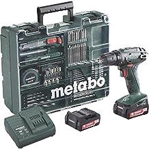 Metabo BS 14.4 Li 2x 2.0Ah 602206880 - Taladro (Ión de litio, 14.4V 2 Ah, 1,4 kg, Negro, Verde)