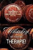 Schatzmix Whiskey ist Meine Therapie! Whisky Lustig Spruch blechschild
