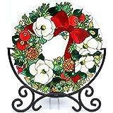 Decoración de escritorio Acever mano pintura Art Glass portavelas mesa Topper Candleware decoración para el hogar decoración de oficina calendario función atril (corona)