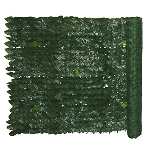 Siepe Sintetica da Giardino Con Foglie di Edera Cm 1,5x20 mt Evergreen Edera