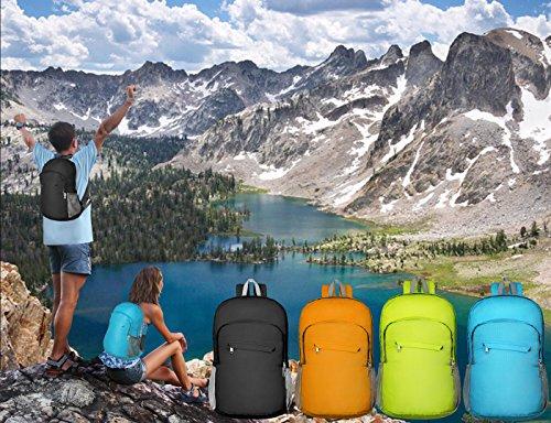 Imagen de 20l ultra ligero empaquetado  de excursión impermeable daypack  de viaje plegable con anti tirón tejido de alta densidad de nylon para picnic al aire libre de deportes de trekking de compras por soooec alternativa