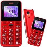 Mobiho-Essentiel le CLASSIC SYMPA 2 ROUGE, Seniors - Grosses touches - Un téléphone simple et complet à la fois, une belle couleur rouge. Son très fort jusqu'à 90DB mesuré à 30 cm - Blocage clavier facile - Blocage menus possible - Appareil photo et vidéo - Bluetooth - Ecran couleur avec chiffres écrit gros sur l'écran, très bon contraste - 8 raccourcis d'appel direct - Bouton SOS - Sms (pas MMS) - Lampe torche - Débloqué tout opérateur, Toutes cartes SIM...
