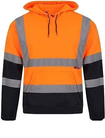 Hi Vis Two Tone Hoodies Safety Fleece Sweatshirt Work Tops GO/RT Compliant Jumpers