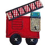 2 Aufbügler Feuerwehr 6X8cm Traktor 7X7cm Set Aufnäher Flicken Applikationen zum Ausbessern von Kinder Kleidung mit Design TrickyBoo Zürich Schweiz für Deutschland und Österreich