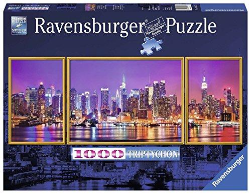 Ravensburger-00.019.792 Puzzle 1000 pcs New York Triptych, Multicolor (19792), Assorted models / colors, 1 Unit