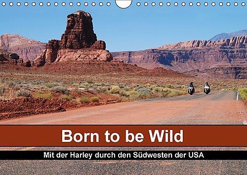 Preisvergleich Produktbild Born to be Wild - Mit der Harley durch den Südwesten der USA (Wandkalender 2017 DIN A4 quer): Die landschaftlichen Highlights des amerikanischen ... 14 Seiten ) (CALVENDO Mobilitaet)