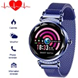 Fitnessuhr mit Blutdruckmessung FüR Damen Intelligente Uhr Wasserdicht Pulsuhren Fitness Tracker Smartwatch Bluetooth,1…
