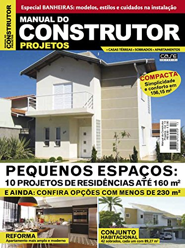 Manual do Construtor Projetos Ed. 13 - 10 Projetos Até 160 m² (Portuguese Edition) por Edicase