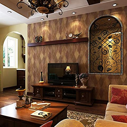 GS~LY Bandes de cuir vintage wallpaper fonds d'écran de country américain diamond Plaid Chambre rétro salon , 2