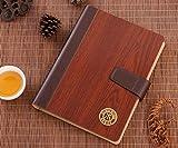 MNII haut de gamme nouveau élégant cahier en bois A5 retro notebook création tendance , coffee- outils d'apprentissage...