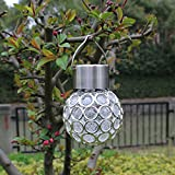 Ocamo Waterproof Peacock Eye LED Hanging Lamp Outdoor Garden Decorative Solar Light