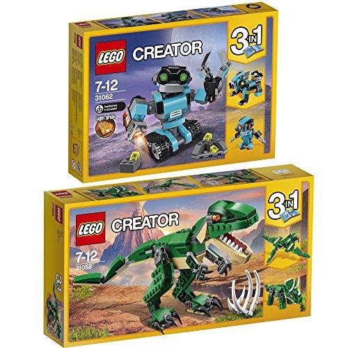 Preisvergleich Produktbild Lego Creator 3-in-1 2er Set 31058 31062 Dinosaurier + Forschungsroboter
