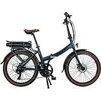 Blaupunkt Unisex – Erwachsene Frida 500 | Falt-E-Bike, Designbike, Klapprad, Lava-Grau matt, 24 inches