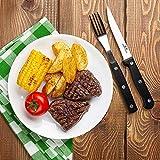 G.a HOMEFAVOR 8-teiliges 11cm Mikro-Gezahnt Steakmesser Set - 5