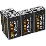 Shentec 4 stuks Li-ion-accu, 800 mAh, 9 V, oplaadbare batterijen, 6 F22, lithium-ion, 9 volt, oplaadbare accubatterijen met l