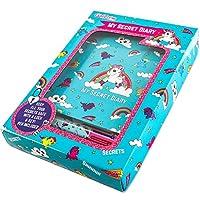 GirlZone: Unicorn Secret Lockable Journal Diary and Pen Set for Girls