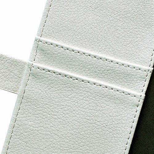 oulk® HTC One Touch Pop 2Desire 510étui, PU Litchi en cuir cousu main portefeuille Coque avec béquille