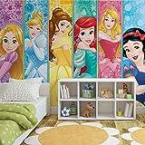 Fotomurale da Parete 3428P8 - Disney Principesse - XXL - 368cm x 254cm - 4 Strisce - Carta da murale di prima qualità 115gsm