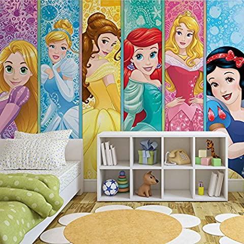 Disney Princesses Aurora Belle Ariel - Photo Wallpaper - Wall Mural - EasyInstall Paper - Giant Wall Poster - XL - 208cm x 146cm - EasyInstall Paper - 2